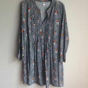 Old Navy Long sleeve floral tunic dress large